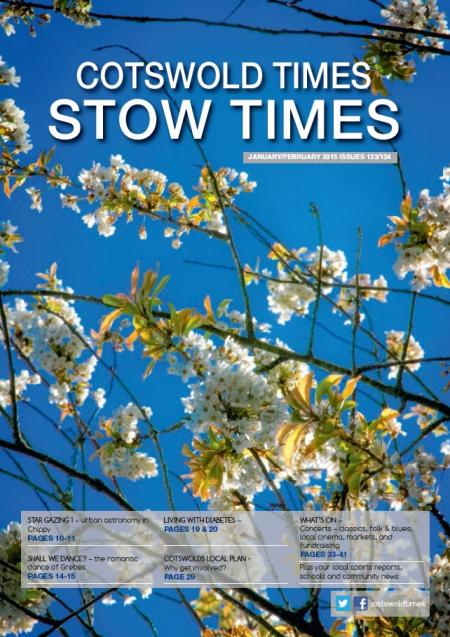 Front page of Stow Times - January-February 2015